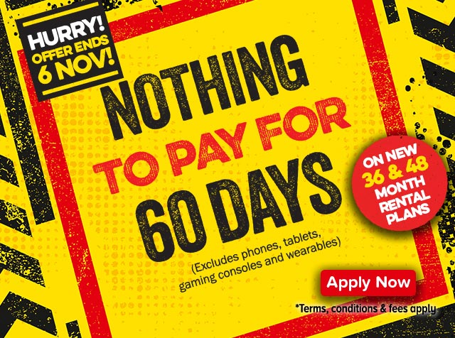 Nothing to Pay for 60 Days