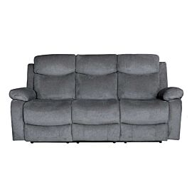 Nikson Three Seater Recliner Charcoal