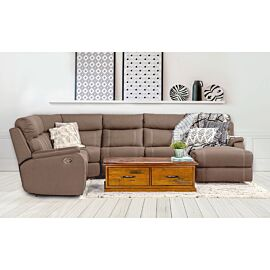 Porter 6 Seater Modular Lounge Rental with sofa bed in Clay Rental Lifestyle image