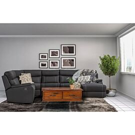 Porter 6 Seat Modular Lounge with Sofa Bed Rental in Onyx Lifestyle Image