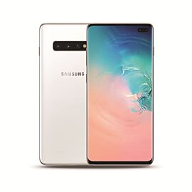 Samsung Galaxy S10+ in Prism White - Front and Back